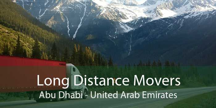Long Distance Movers Abu Dhabi - United Arab Emirates